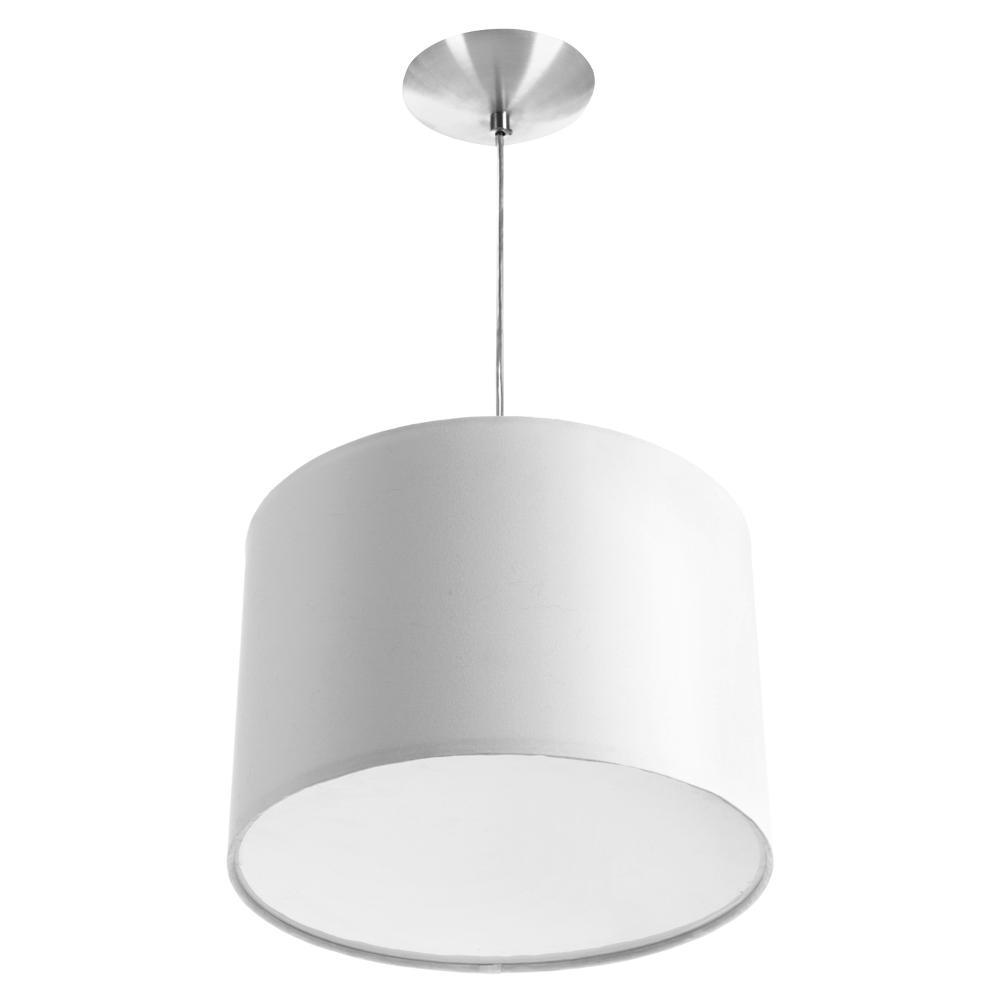 Lustre Cupula Pendente Dome 30x20cm Magnífico Branco
