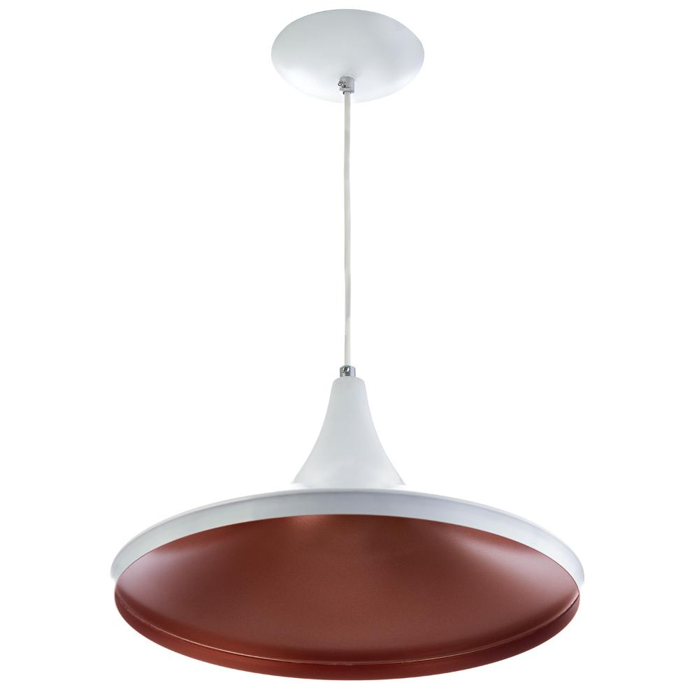 Luminária Pendente Chapeu Sala Jantar Branco Lançamento