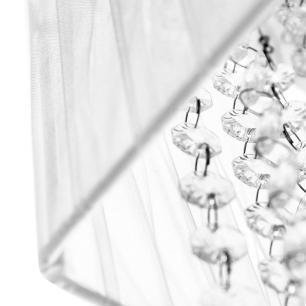Pendente Cupula Cristal Acr Marrycrilic Branco c/ Deslocador
