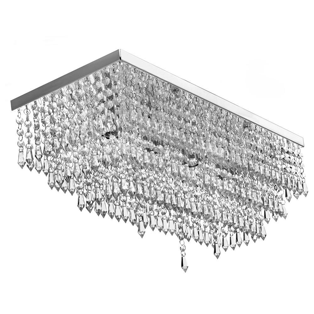 Lustre Luminária Queops Retangular 60x25 Cm Explendido!!