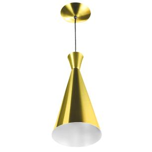 Luminária Pendente Funil Aluminio Tom Dixon Dourado Metalico