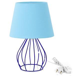 Abajur Cebola Dome Azul Bebe Com Aramado Azul