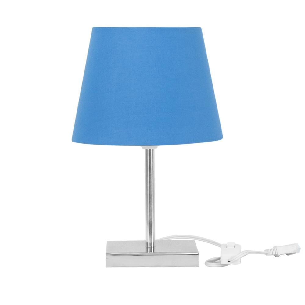 Abajur Eros Dome Azul com Base Quadrada Magnifico