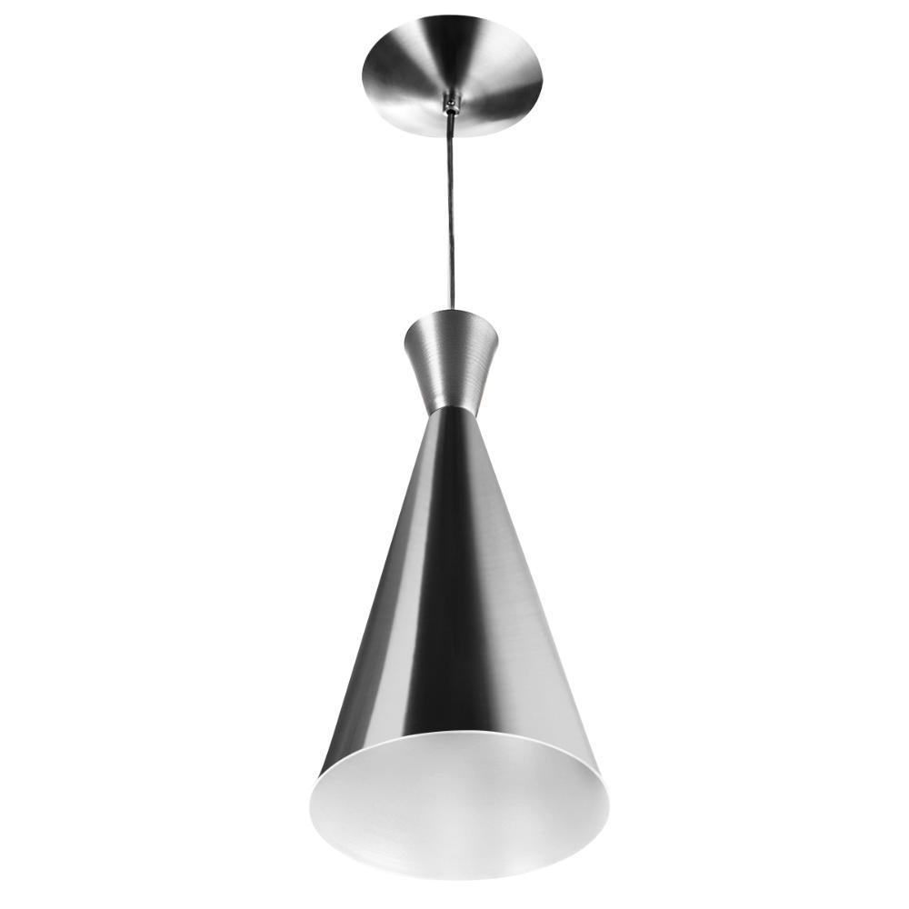 Luminária Pendente Funil Aluminio Tom Dixon New Escovado