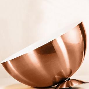 Lustre Pendente Meia Lua 40cm Alumínio New Cobre Magnifico