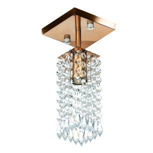 Kit 3 Lustre Clearcrillic Cristal Acrílico Quadrado Cobre