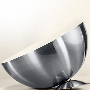 Kit 2 Lustres Pendente Meia Lua 40cm Alumínio New Escovado