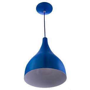 Kit 3 Lustres Pd Gota Pequena Alumínio 21cm Soquete E27 Azul