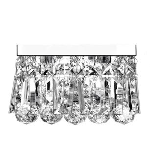 Lustre De Cristal Legitimo Wonderwall 20x20 com Lâmpadas 3000K (Branco Quente)