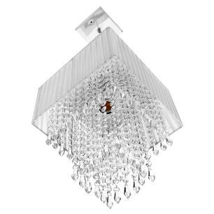 Lustre Para Sala De Cupula Cristal Acrílic Marrycrilic Prata