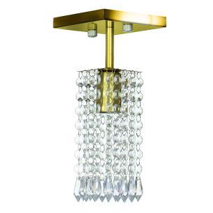 Kit 4 Lustre Clearcrillic Cristal Acrílico Quadrado Dourado