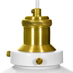 Pendente Industrial 22 Cm Retro Nordic Branco com Dourado