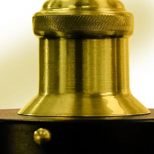 Pendente Nordic Industrial 22 Cm Vintage Preto com Dourado