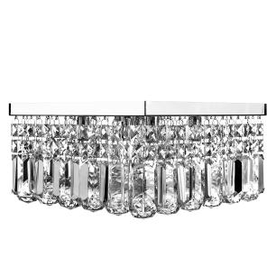 Lustre De Cristal Legitimo Wonderwall 30x30 com Lâmpadas 3000K (Branco Quente)