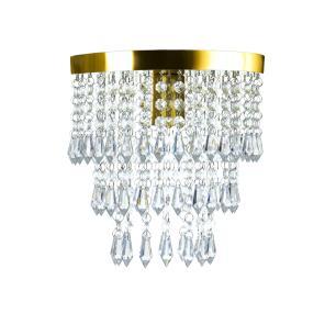 Kit 3 Lustre De Cristal Acrilico Manucrillic Dourado.