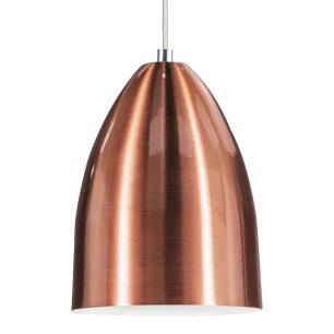 Lustre Pendente Luminária Cone de Alumínio New Cobre