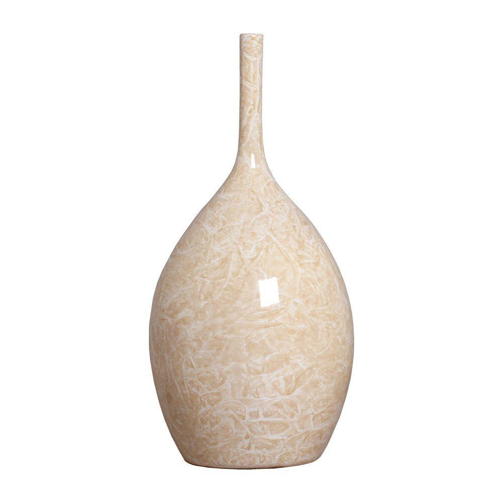 Garrafa Luna G Decoração Em Cerâmica Bege Petra