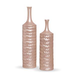 Garrafa Ágata Decoração Em Cerâmica Enfeite De Mesa Rose