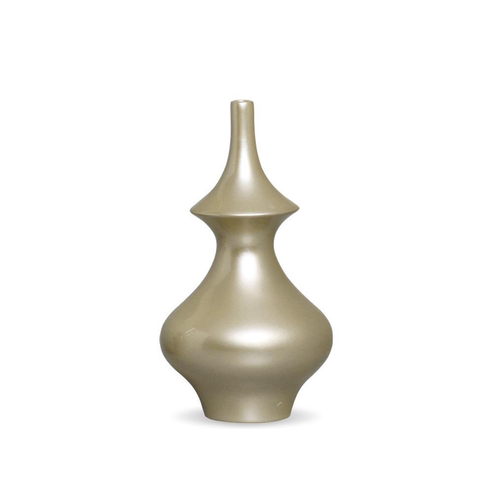 Garrafa Oriental M Decoração Em Cerâmica Fendi Chrome