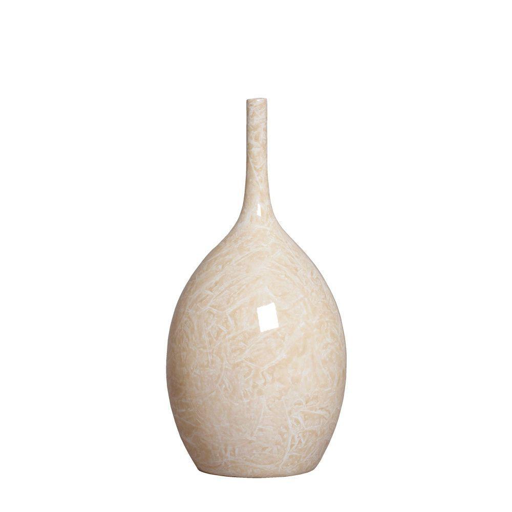 Garrafa Luna P Decoração Em Cerâmica Bege Petra