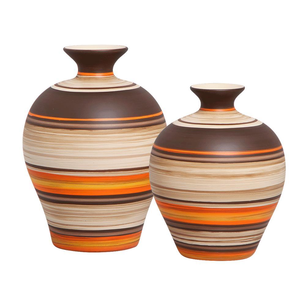 Vaso Decorativo Topázio G E P Decoração Cerâmica New Sunset