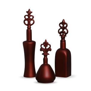 Garrafa Lins Trio Enfeite Decoração Cerâmica Vinho Sensation