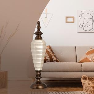 Pote Adhara G Decoração Em Cerâmica Fendi E Capuccino