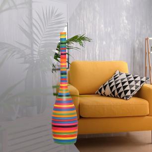 Garrafa Tulipa G Enfeite De Mesa Decoração Cerâmica Colors