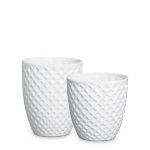 Vaso Mônaco Enfeite De Mesa Cerâmica Clássica Branca