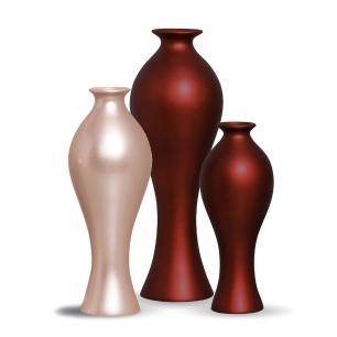 Trio Vaso Califórnia Decoração Em Cerâmica Sensation e Rose