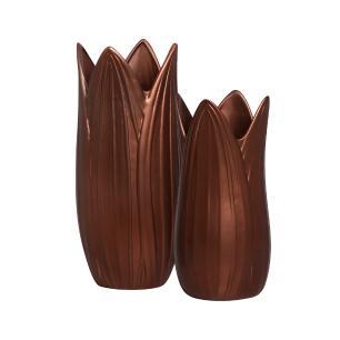Vaso Decorativo Folha G E P Decoração Em Cerâmica Café