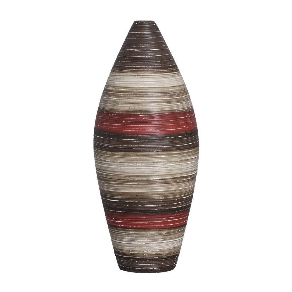 Vaso Sírio G Decoração Cerâmica Vermelho e Marrom Terracota