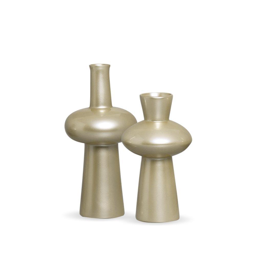 Vaso Fênix Fendi M E P Kit Decoração Em Cerâmica Chrome