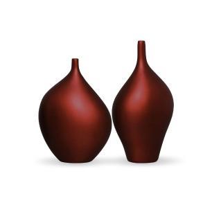 Dupla Garrafa Munique Decoração Em Cerâmica Vinho Sensation