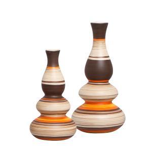 Vaso Antares Dupla Decorativa Decoração Em Cerâmica New Sunset
