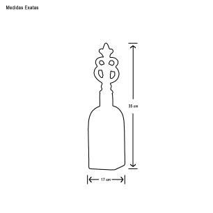 Garrafa Lins M Decoração Em Cerâmica Bege Marmorizado Petra