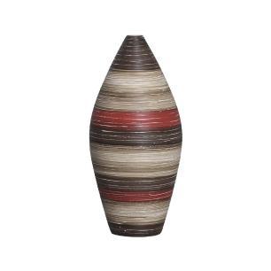Vaso Sírio P Decoração Cerâmica Vermelho e Marrom Terracota