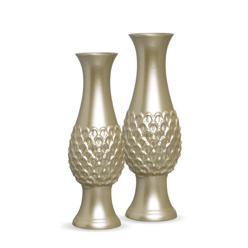 Vaso Indaiá G E P Enfeite De Mesa Cerâmica Fendi Chrome
