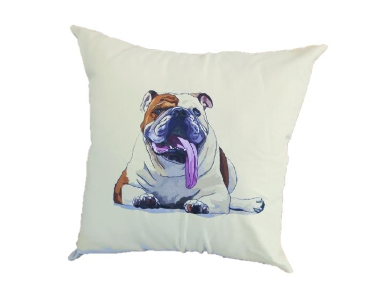 Capa de Almofada 45x45 Bulldog