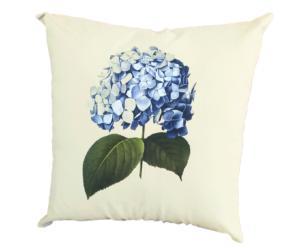 Capa de Almofada 45x45 Hortensia Azul