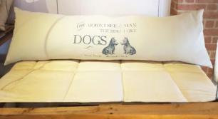 Capa de Almofada para Cabeceira 140X40 Dogs