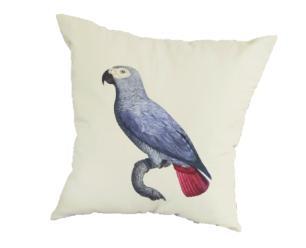 Capa de Almofada 45x45 Papagaio Azul