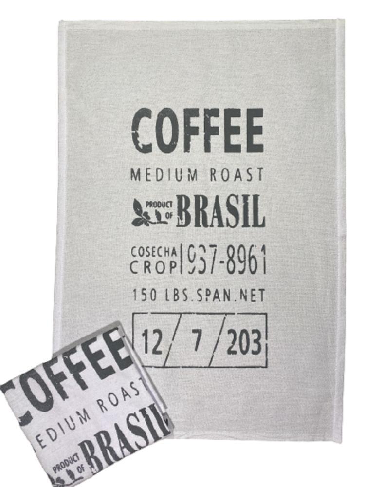 Pano de Prato Estampa Coffee - Trama Pé de Galinha