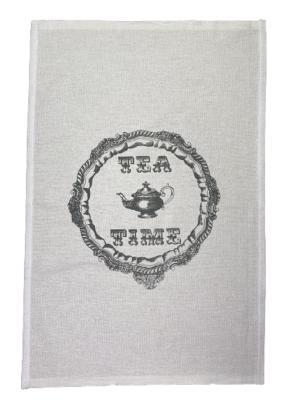 Pano de Prato Estampa Tea Time - Trama Pé de Galinha
