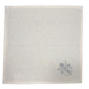 Guardanapo de Tecido Flor de Lis em Linho - 1 Unidade