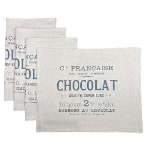 Jogo Americano Chocolat em Linho - 4 Unidades