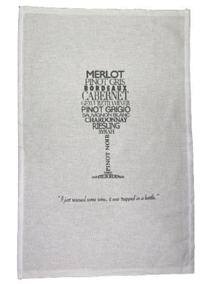 Pano de Prato Estampa Wine - Trama Pé de Galinha