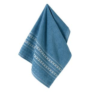 Toalha de Rosto Karsten Fio Cardado Emeline Azul Crepúsculo/ Cinza