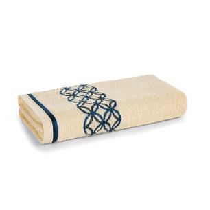 Toalha de Banho Karsten Fio Cardado Nardin Natural/ Azul/ Marinho