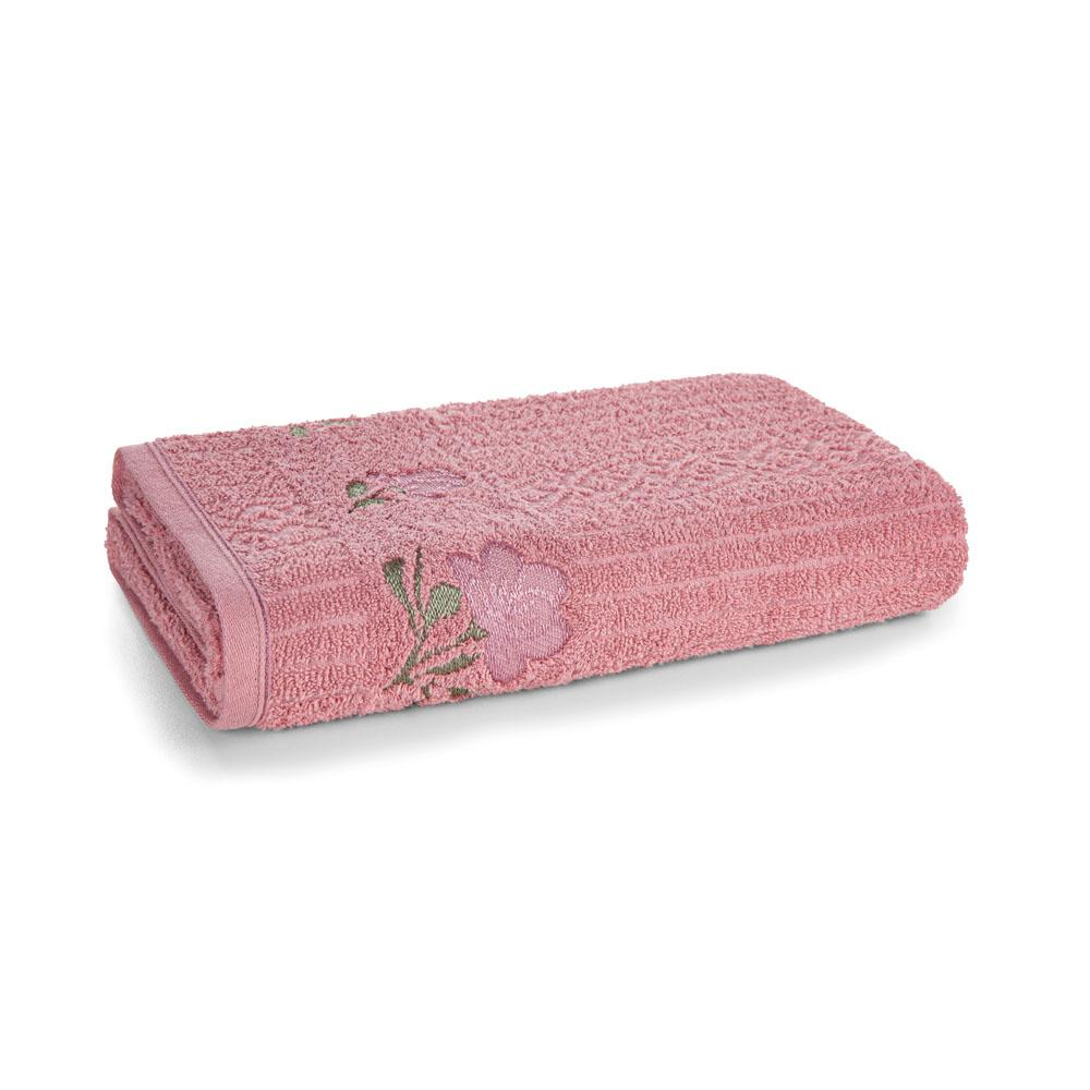 Toalha de Rosto Karsten Fio Cardado Yana Lady Pink/ Rosa Málaga/ Verde